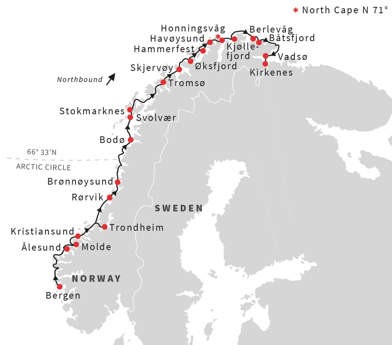 Bergen to Kirkenes